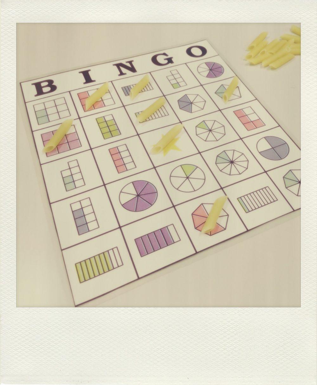 Laboratorio de matemáticas: Bingo de fracciones. | del pupitre a las ...