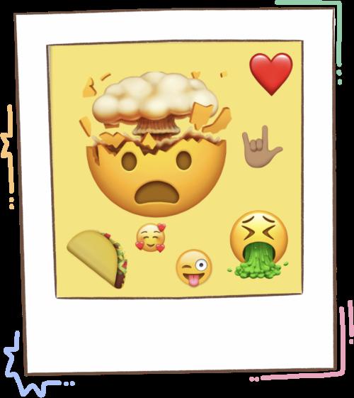 Campo semántico y familia de palabras con emojis.