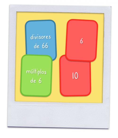Laboratorio de matemáticas: Juego de múltiplos y divisores.